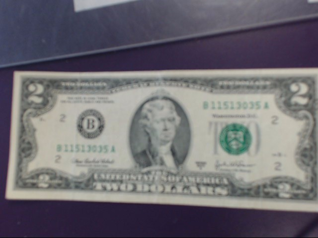 UNITED STATES Paper Money - World 2 DOLLAR BILL 2003A NEW YORK B11513035A