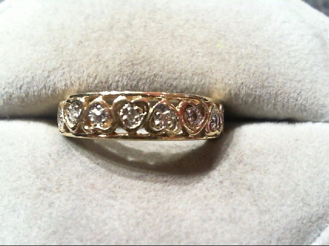 Lady's Diamond Wedding Band 8 Diamonds .08 Carat T.W. 10K Yellow Gold 2.7g