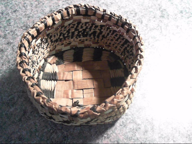 HAND MADE NATIVE CEDAR BASKET.