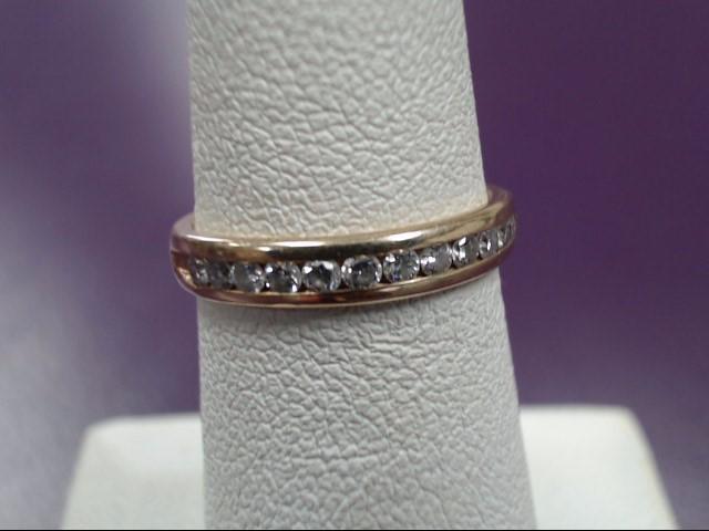 Lady's Diamond Wedding Band 12 Diamonds .36 Carat T.W. 14K Yellow Gold 2.35g
