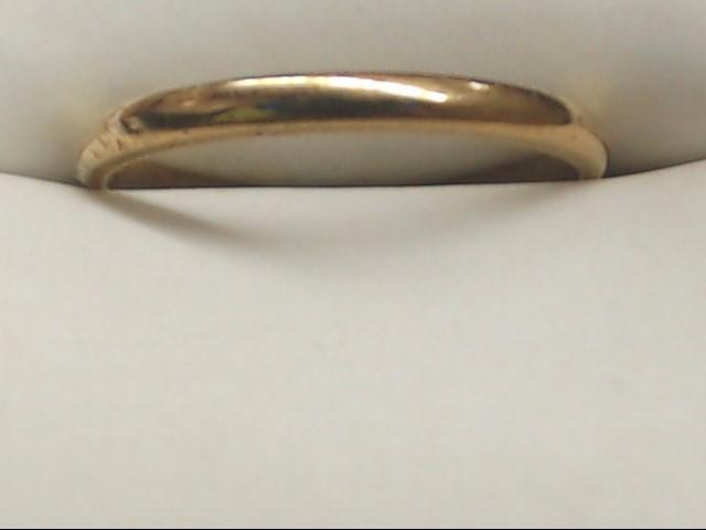 Lady's Gold Wedding Band 14K Yellow Gold 1.4g Size:6