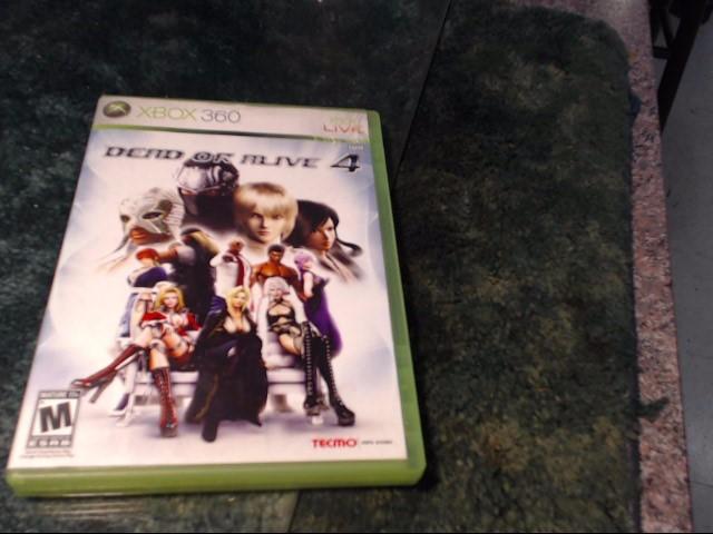 MICROSOFT Microsoft XBOX 360 Game DEAD OR ALIVE 4 XBOX 360