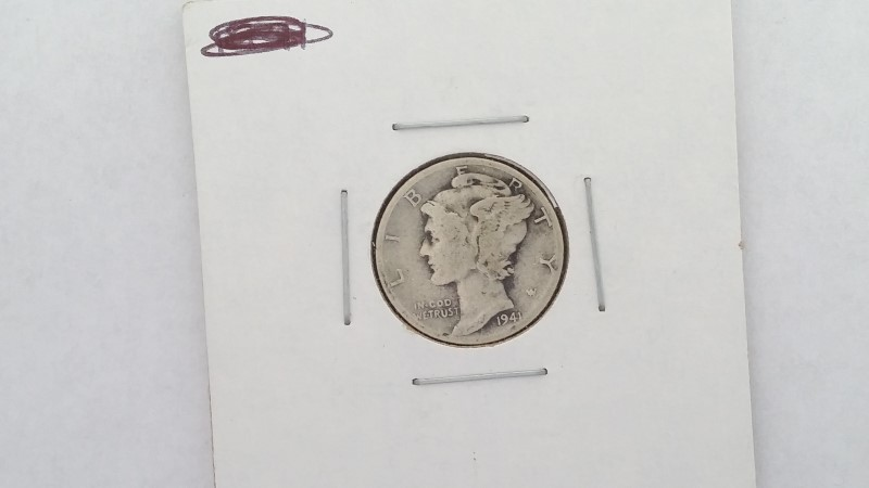 1941 Mercury Dime No Mint Mark