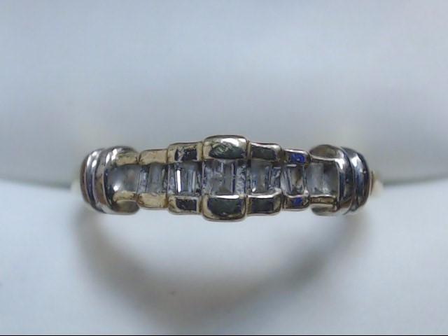 Lady's Gold-Diamond Anniversary Ring 7 Diamonds .14 Carat T.W. 10K Yellow Gold