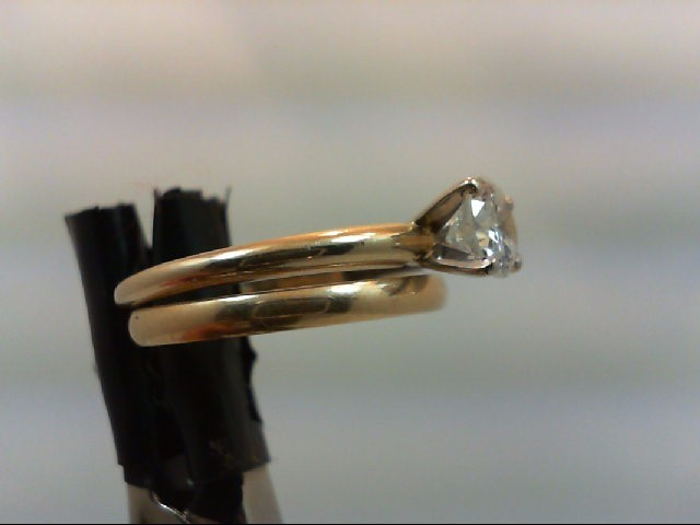 Lady's Diamond Wedding Set 0.6 CT. 14K Yellow Gold 2.8g