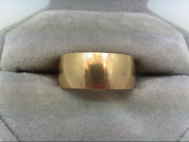 Lady's Gold Wedding Band 14K Yellow Gold 4.7g Size:7