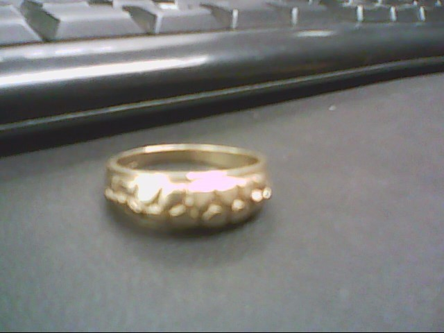 Gent's Gold Wedding Band 10K Yellow Gold 4.4g Size:11.5