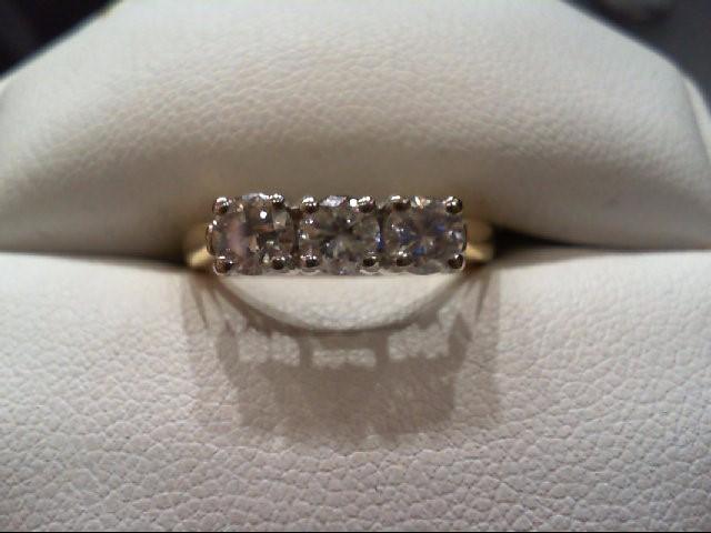 Lady's Diamond Wedding Band 3 Diamonds .90 Carat T.W. 14K Yellow Gold 3.1g