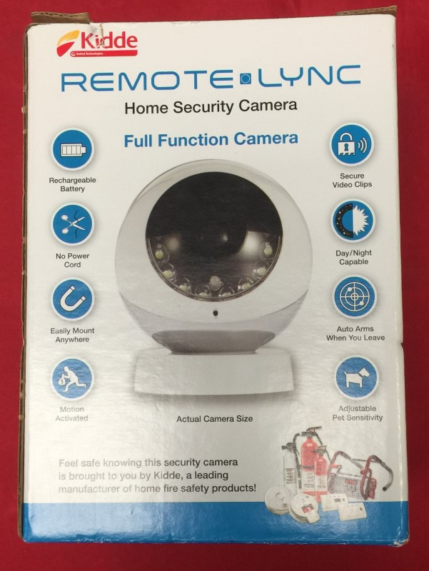 Kidde Remote Lync Cordless Wireless Home Security Camera