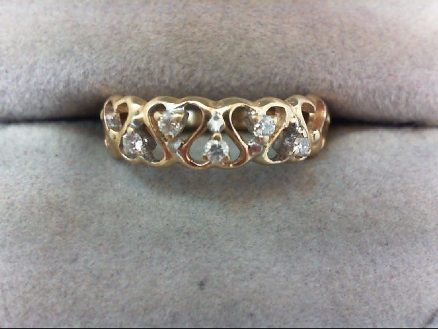 Lady's Diamond Wedding Band 5 Diamonds .10 Carat T.W. 14K Yellow Gold 2g