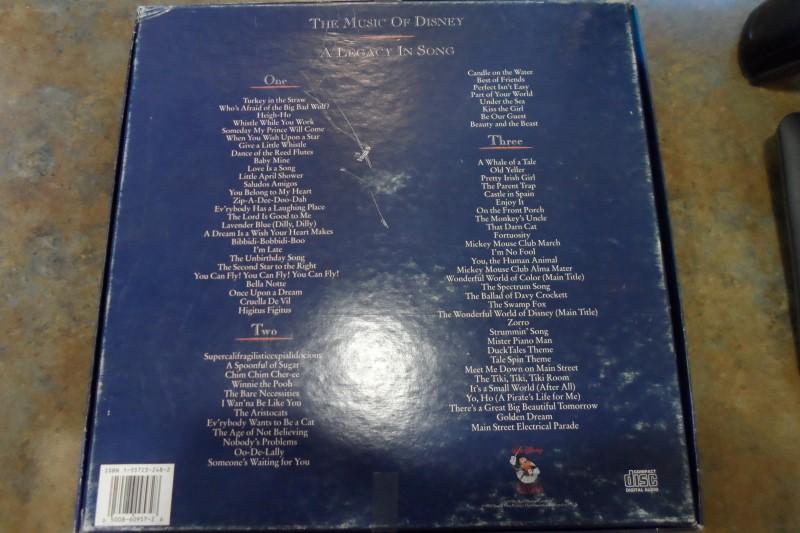 DISNEY Entertainment Memorabilia THE MUSIC OF DISNEY ALEGACY IN SONG