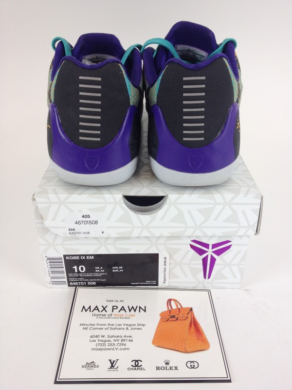 Nike Kobe IX EM Pop Art Camo SZ 10