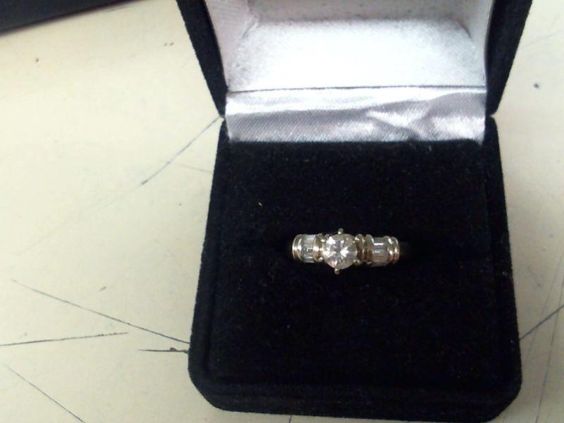 Lady's Diamond Fashion Ring 9 Diamonds .41 Carat T.W. 14K White Gold 3.6g