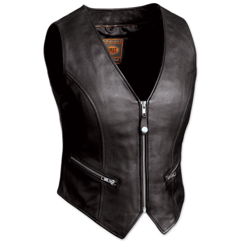 NEW FIRST MANUFACTURING Apparel/Merchandise FIL515CSL-S ZIP FRONT CROP VEST