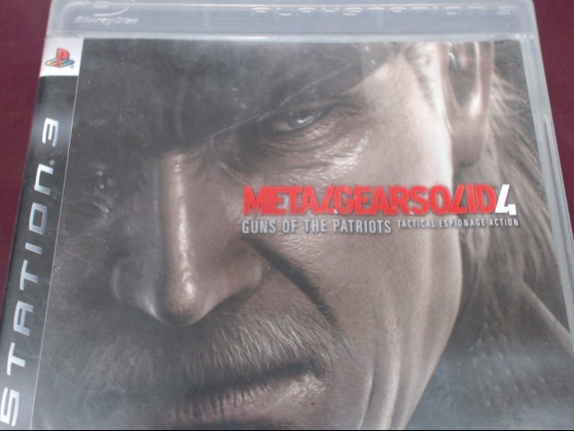 SONY PS3 METAL GEAR SOLID 4