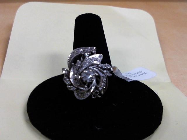 Lady's Diamond Fashion Ring .20 CT. 14K White Gold 4.7g