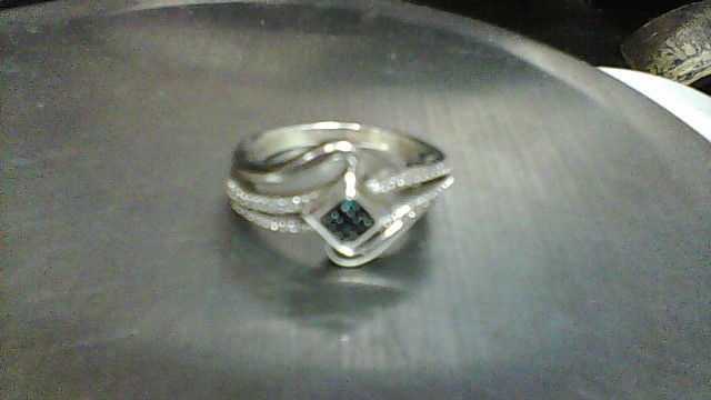 LADIES STERLING SILVER MARACITE SZ 8 RING