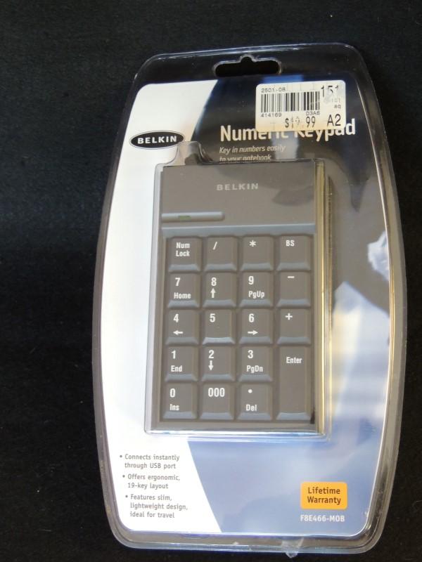 BELKIN Computer Accessories F8E446-MOB BELKIN F8E466MOB 19 KEY NUMERIC KEYPAD