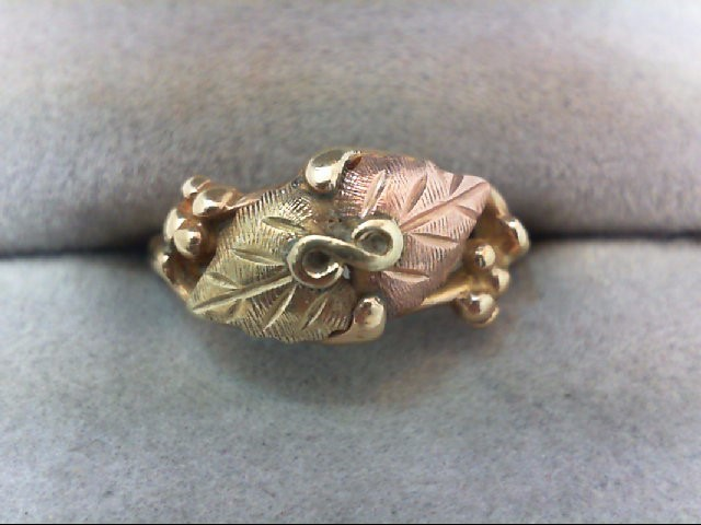 Lady's Gold Ring 10K Tri-color Gold 2.4g