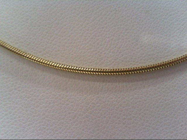 "16"" Gold Snake Chain 14K Yellow Gold 4.7g"