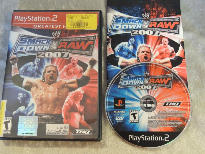 SONY PS2 GAME - WWF SMACK DOWN VS RAW 2007