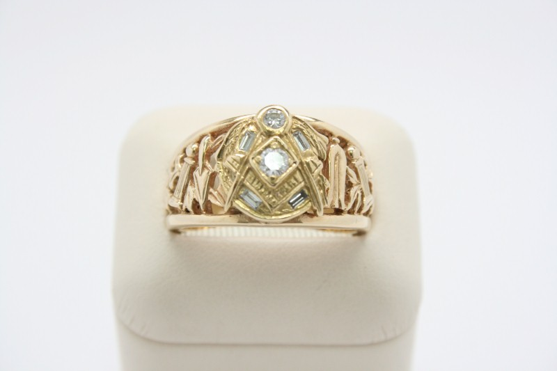 MASON DIAMOND RING 14K YELLOW GOLD
