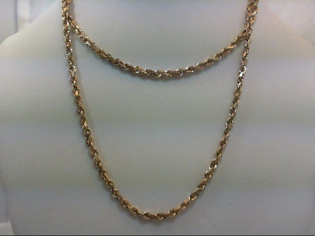 "22"" Gold Rope Chain 14K Yellow Gold 9.4g"
