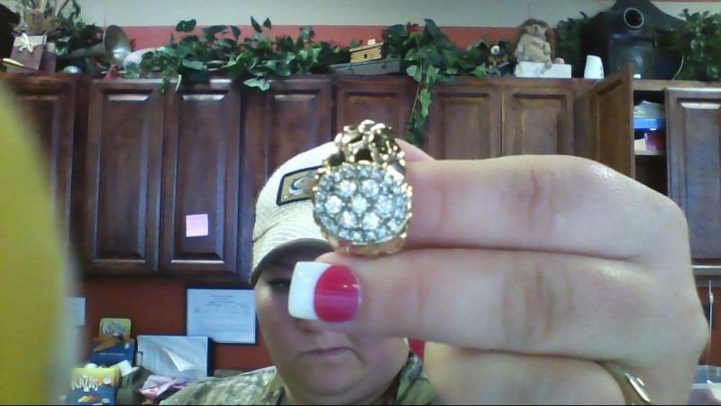 Gent's Diamond Cluster Ring 24 Diamonds 1.04 Carat T.W. 14K Yellow Gold 15.6g