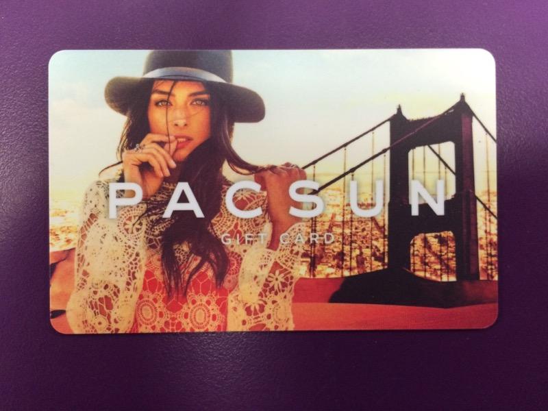 $25.00 Pac Sun Gift Card