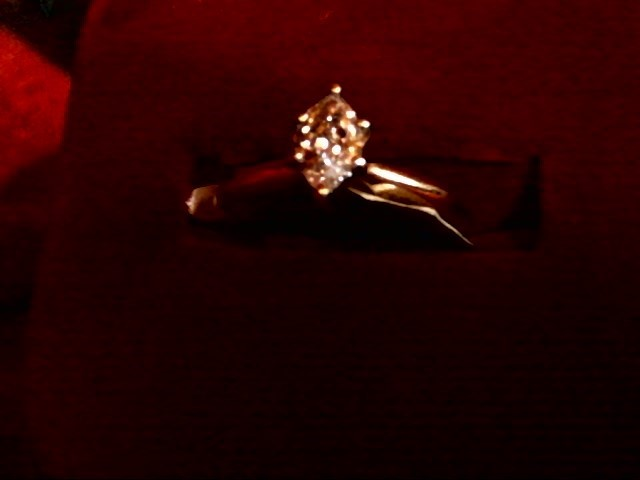 Lady's Diamond Solitaire Ring .50 CT. 14K Yellow Gold 1.3dwt