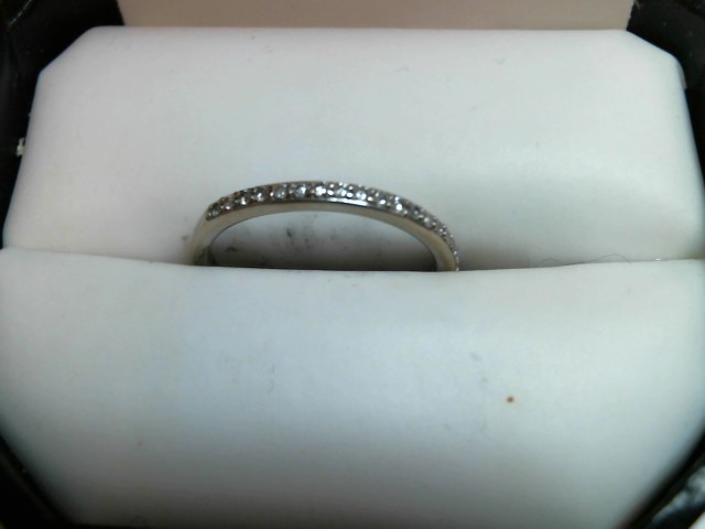Lady's Gold Wedding Band 14K White Gold 1.1dwt