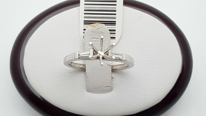 Lady's Diamond Engagement Ring 2 Diamonds .20 Carat T.W. 18K White Gold 3.2g