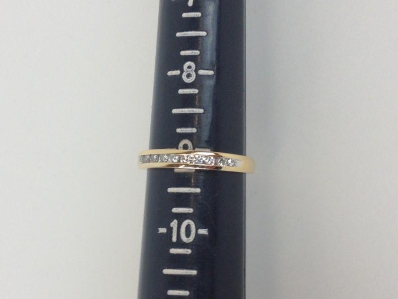 Channel Set Band 13 Diamonds .39 Carat T.W. 14K Yellow Gold 3.13g