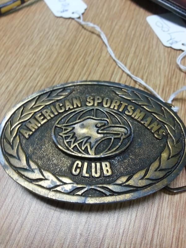 AMERICAN SPORTSMAN CLUB BELT BUCKLE