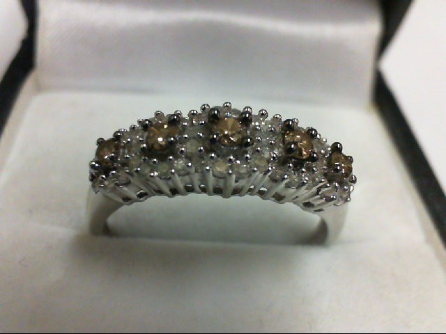 Lady's Diamond Cluster Ring 50 Diamonds .70 Carat T.W. 10K White Gold 2.6g