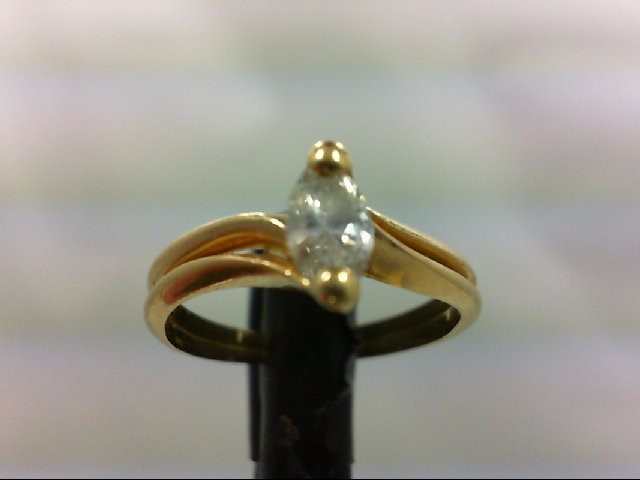 Lady's Diamond Solitaire Ring .33 CT. 14K Yellow Gold 2.73g