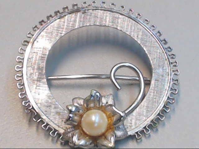 Silver Brooch 925 Silver 2.9g