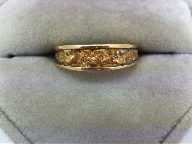 Lady's Gold Wedding Band 14K Yellow Gold 3.9g Size:6