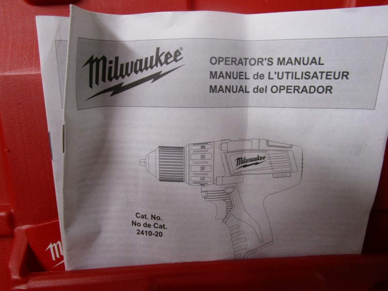 MILWAUKEE MOLDED PLASTIC DRILL CASE FOR MODEL 2410-22, EXCELLENT CONDITION!
