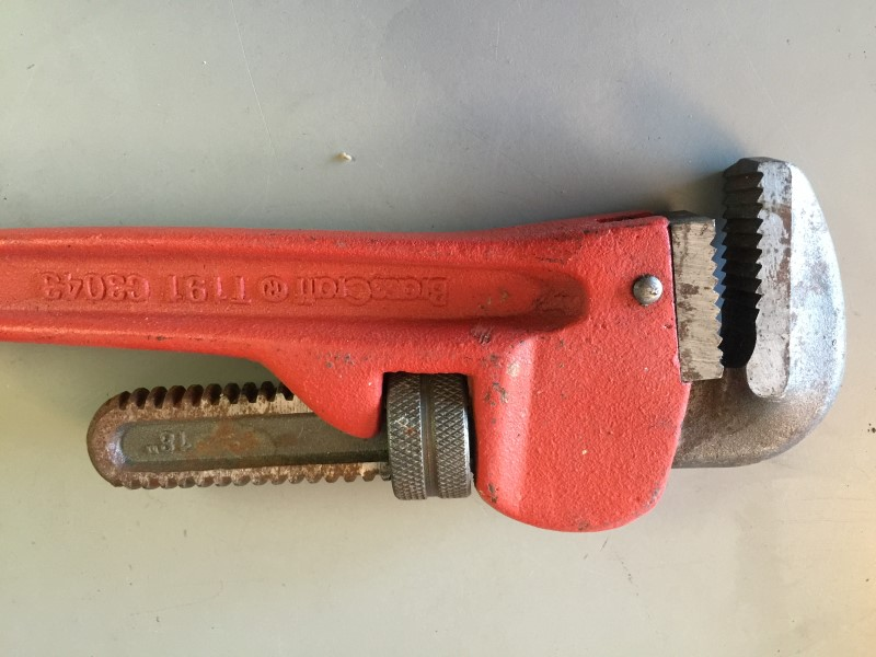 """BRASS CRAFT T191 C3043 18"""" HEAVY DUTY CAST IRON PIPE WRENCH"""