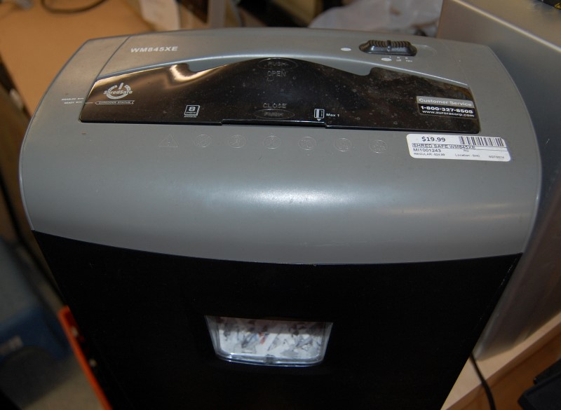SHRED SAFE WM845XE