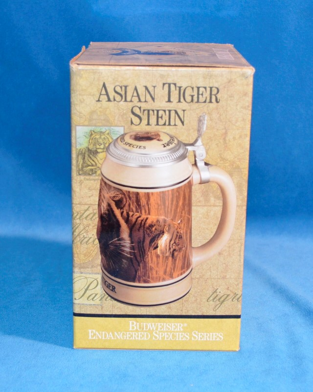 BUDWEISER ASIAN TIGER BEER STEIN