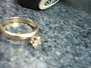 Lady's Diamond Solitaire Ring .33 CT. 14K Yellow Gold 2.3g