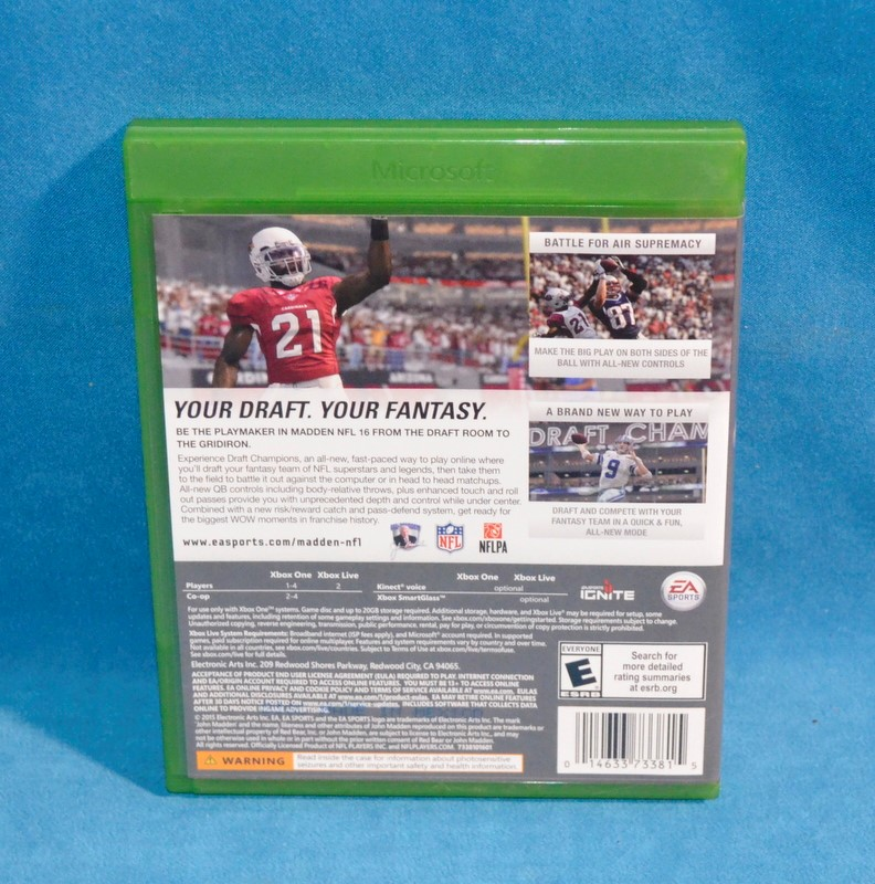 XBOX ONE GAME MADDEN 16