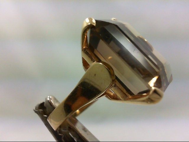 Citrine Lady's Stone Ring 18K Yellow Gold 11.1g