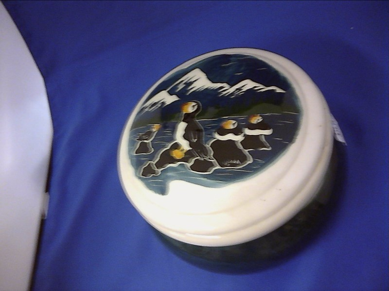 MISC MISC USED MERCH MISC USED MERCH; HAND PAINTED PUFFIN JAR FROM ALASKA  SALE