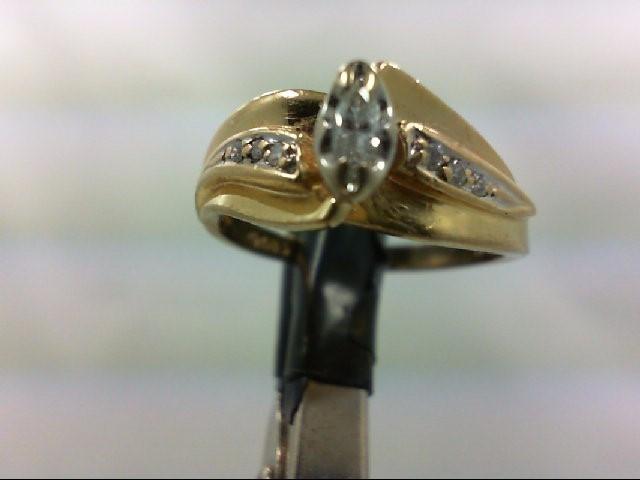 Lady's Diamond Wedding Band 7 Diamonds 0.26 Carat T.W. 14K Yellow Gold 3.7g Size