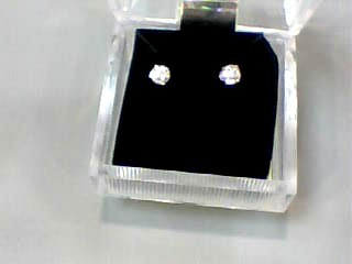 Gold-Diamond Earrings .40 CT. 14K White Gold 0.6dwt