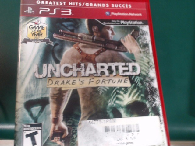 SONY Sony PlayStation 3 Game PS3 GAME- UNCHARTED DRAKES FORTUNE