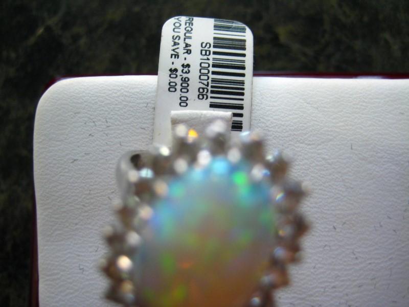 Lady's Gold Ring 18K White Gold 6.57g
